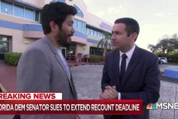 Historic recount: Florida Dem Senator sues to extend deadline