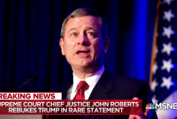 Trump WH rattled by rare rebuke from Chief Justice Roberts