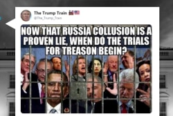 Trump retweets image of Mueller, Comey, Rosenstein & more in jail