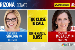 Kyrsten Sinema takes the lead in Arizona Senate race