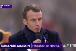 Macron denounces nationalism as Trump and the world look on