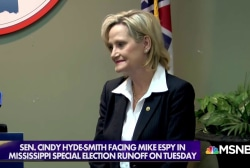 Sen. Hyde-Smith dodges questions on 'public hanging' comments