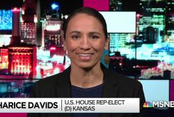 Sharice Davids flips Kansas seat, makes history on many fronts