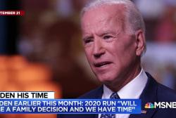 Pressure mounts on Biden to decide on 2020 Presidential run