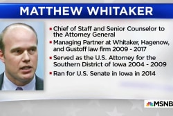 Melber: Whitaker may oversee Russia probe