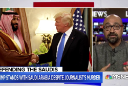 Trump standing with Saudi Arabia instead of his intel agencies
