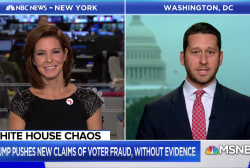 President Trump pushing baseless claims of voter fraud