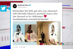 #GoodNewsRUHLES: Little girl dresses as Michelle Obama for Halloween
