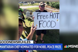#GoodNewsRUHLES: Celeb chef nominated for Nobel Peace Prize