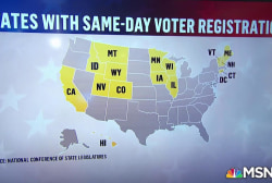 You can register to vote on election day in 15 states and DC
