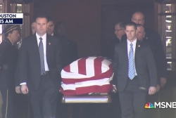 Body of George H.W. Bush being transported for funeral ceremonies