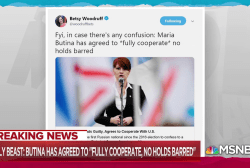 Maria Butina to 'fully cooperate' with investigators: Daily Beast