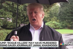 Trump parrots exculpatory Saudi narrative on Khashoggi