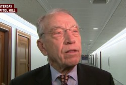 Sen. Grassley revives pre-midterm caravan talk
