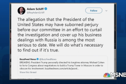 Rep. Schiff on BuzzFeed News bombshell: We'll find out if it's true
