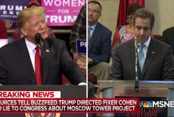 Buzzfeed report co-author responds to Trump tweet on Cohen