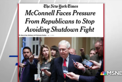 NYT: GOP pressuring McConnell to end shutdown