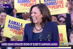 Sen. Harris sets high bar with 2020 announcement event