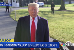 Dana Milbank: Trump used to say wall would be transparent. Then we went to concrete. Now we're at steel.