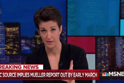 Exclusive: NBC News source says Mueller probe wrapping by March