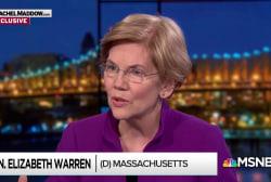 Elizabeth Warren: 'No to the billionaires' funding politics