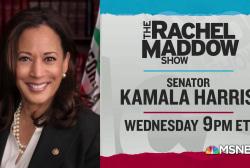 Programming note! Sen. Kamala Harris comes to TRMS Wednesday, 9pm