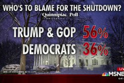 Most blame Trump, GOP for shutdown, polling shows