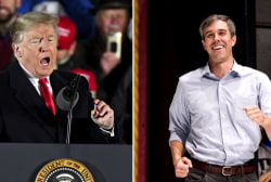 Trump and O'Rourke hold dueling rallies in El Paso