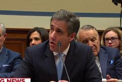 Michael Cohen alleges Trump committed numerous crimes