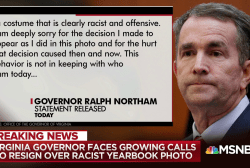 Growing calls for Virginia governor to resign over racist yearbook photo