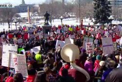Denver school teachers walk out on first day of strike