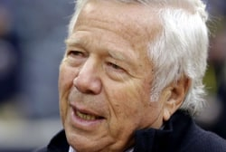 New England Patriots owner Robert Kraft charged with soliciting prostitution