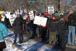 Denver teachers strike after failing to reach a deal on pay