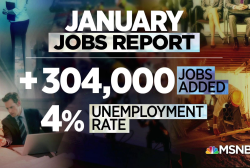 The U.S. economy adds over 300k jobs in January, smashing estimates