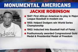 #MonumentalAmerican: Baseball legend Jackie Robinson