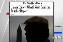 What James Comey wants from the Mueller report