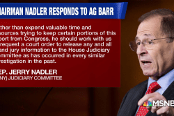 Rep. Nadler says Mueller report should be given to Congress without redactions