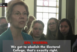 Democratic candidates want to get rid of the Electoral College