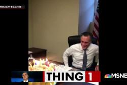 Mitt Romney has a weird birthday party