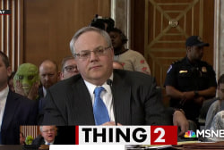 Swamp creatures crash Trump nominee's confirmation hearing