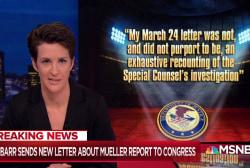Barr improvises role on Mueller report despite clear regulations