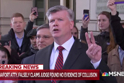 With prison time added, Manafort fixates on 'no collusion mantra'