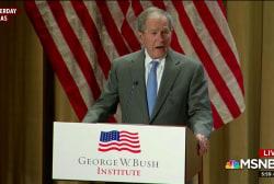 George W. Bush praises immigration as 'blessing'