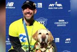 #GoodNewsRUHLES: Blind man and dogs make history, finish half marathon