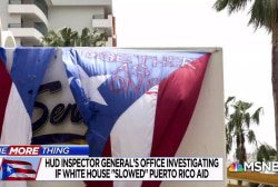 One More Thing: HUD Inspector Gen. investigating if WH 'slowed' Puerto Rico aid