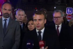 President Macron: We will rebuild Notre Dame together