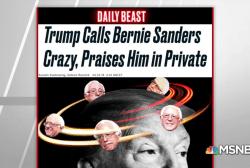 Daily Beast: Trump privately praises Bernie Sanders