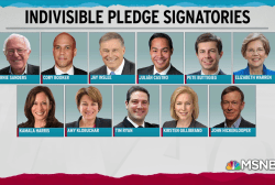 Democratic primary hits full stride, more sign Indivisible Pledge