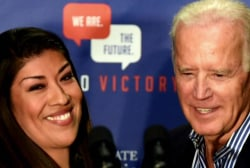 Biden's physical style with women now under scrutiny