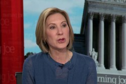Carly Fiorina promotes the power of the individual